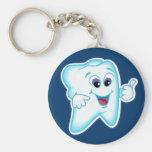Dental Hygienist Basic Round Button Key Ring