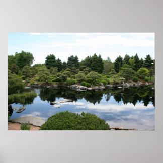 Denver Botanical Gardens pond Poster