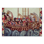 Departure of a Boat for the Crusades, Greeting Card