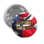 DEPLORABLE AND PROUD 3 CM ROUND BADGE