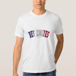 Des Moines in Iowa state flag colors T-shirt