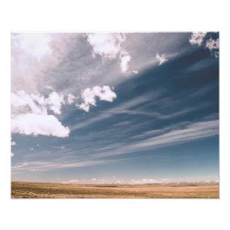 Desert clouds photo art