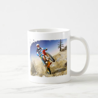 Desert Wheelie Motocross Basic White Mug