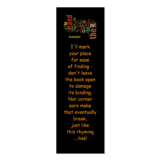 Desidera(R)ta Word Art bookmarks Pack Of Skinny Business Cards