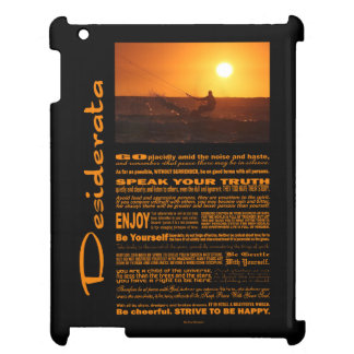 Desiderata Poem Kite Surfer At Sunset Case For The iPad 2 3 4