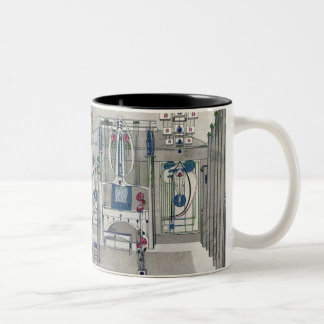 Design for a Music Room with panels by Margaret Ma Two-Tone Mug
