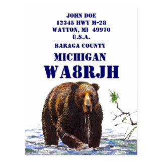 Design Your Own QSL HAM Radio Operator Op Big Bear Postcard