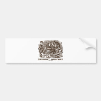 Dessert, Anyone? (Unicorn Alice Lion Wonderland) Bumper Sticker