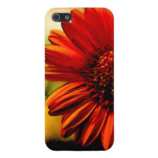Detail of a Red Flower Cover For iPhone 5/5S