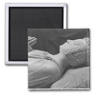 Detail of Marguerite de Foix Square Magnet