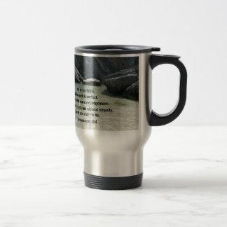 Deuteronomy 32:4 He is the Rock Stainless Steel Travel Mug