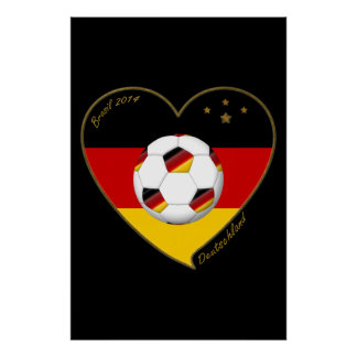 """DEUTSCHLAND"" Soccer Team 2014. Soccer of Germany Poster"