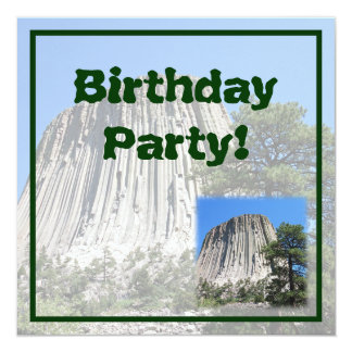 Devils Tower, Wyoming 13 Cm X 13 Cm Square Invitation Card
