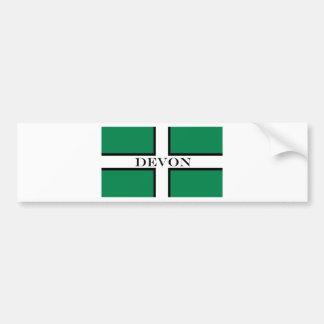 Devon flag bumper sticker