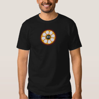 "Dharma Wheel with ""Dharma"" in Tibetan Script 2 Tee Shirt"