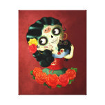 Dia de Los Muertos Lovely Mexican Catrina Girl Canvas Prints