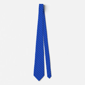 Diagonal dark cobalt blue Stripes Tie