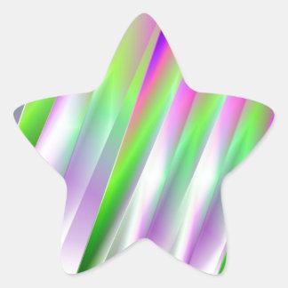 Diagonals Star Sticker