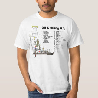 Diagram of an Oil Drilling Rig Tower T-shirts