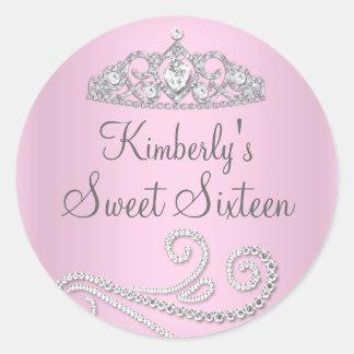 Diamond Tiara Sweet Sixteen Sticker