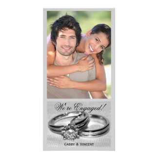 Diamond Wedding Ring Set Personalised Photo Card