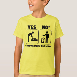 Diaper Changing Instructions T-shirts