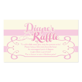 Diaper Raffle Cards Pack Of Standard Business Cards