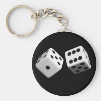 Dice Basic Round Button Key Ring