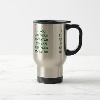 dictator stainless steel travel mug