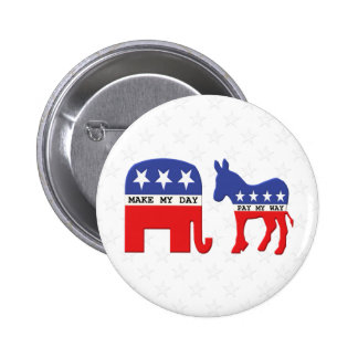 Difference Between Republicans and Democrats Funny 6 Cm Round Badge