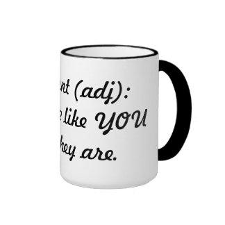 Different (adj) ringer mug