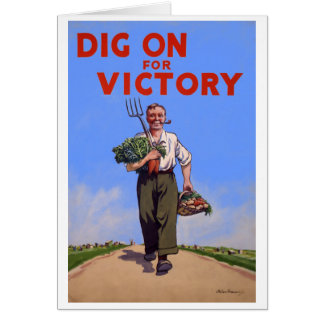Dig on for Victory Vintage Greeting Card