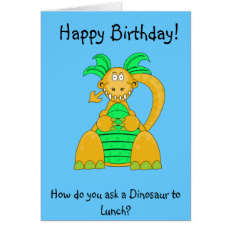 Digby Dino Greetings Card