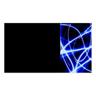DIGITAL BLUE WHITE RAYS DIGITAL ABSTRACT RANDOM LI PACK OF STANDARD BUSINESS CARDS