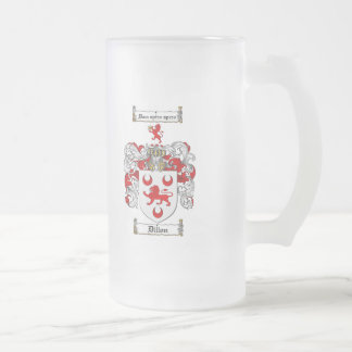 DILLON FAMILY CREST -  DILLON COAT OF ARMS FROSTED GLASS MUG