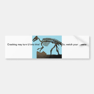 Dinasour Skeleton Bumper Sticker