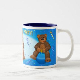 Dinky Bears Birthday Party Two-Tone Mug