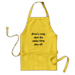 dinner's ready when the smoke alarm goes off standard apron