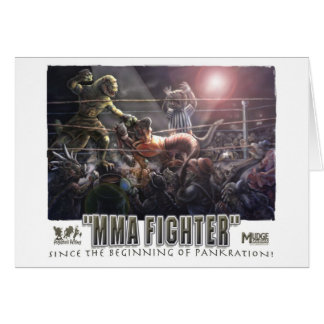 Dino_MMABattle_pankration Greeting Card