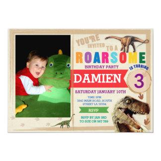 Dinodaur Birthday Invitation Dino Trex Invite