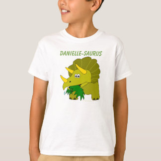 Dinosaurs For Kids Custom Name Fun Triceratops T-shirts