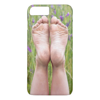 dirty bare feet in wildflowers iPhone 7 plus case