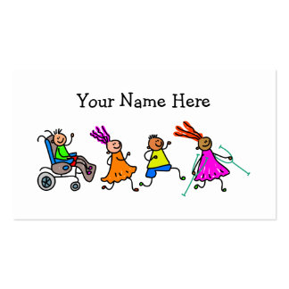 Disabled Kids Pack Of Standard Business Cards