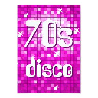 Disco Tiles Pink 70s Disco invitation amelia text