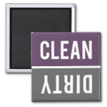 Dishwasher Magnet CLEAN | DIRTY - Purple & Grey