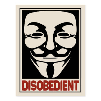 Disobedient Postcard