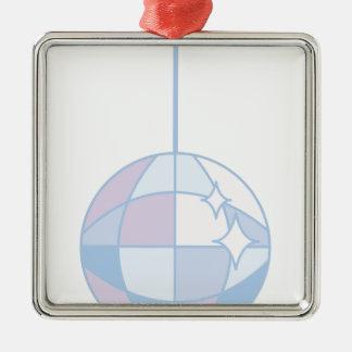 Disoc Ball Silver-Colored Square Decoration