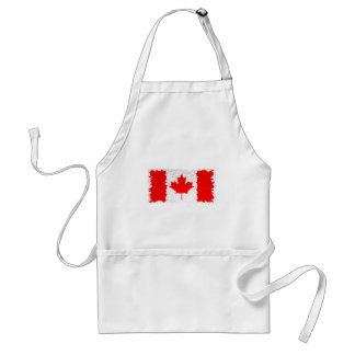 Distorted Canada Flag Standard Apron