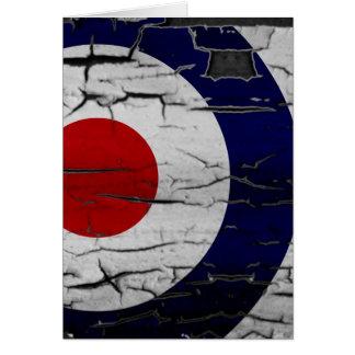 Distress Mod Target Symbol Greeting Card