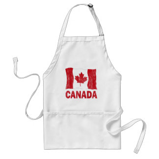 DISTRESSED CANADA FLAG STANDARD APRON